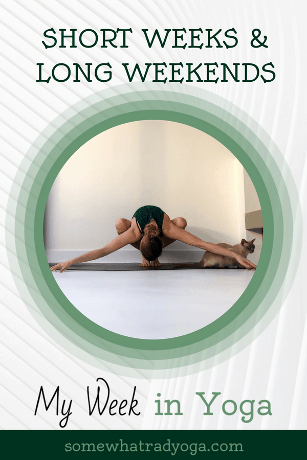 Follow along on my yoga journey with my weekly posts chronicling my yoga practice.
